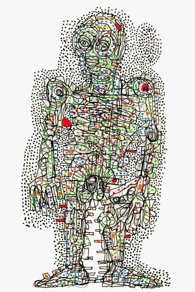 fargerik illustrasjon av en menneskefigur