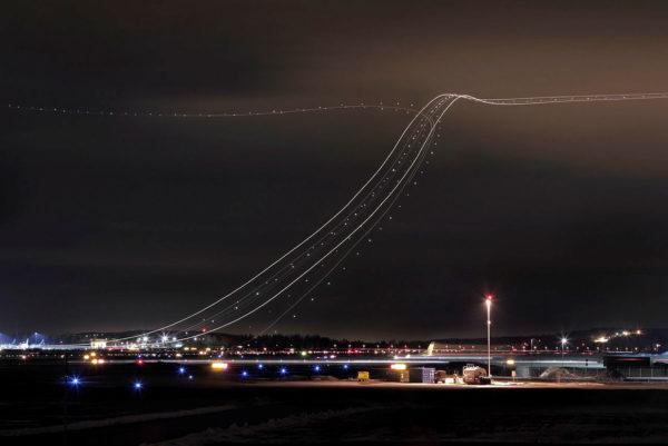 highway lights leaving earth